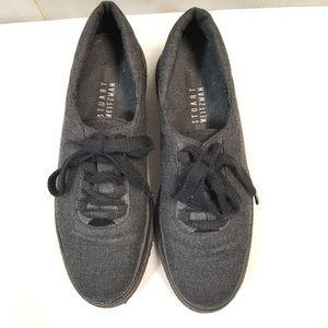 Stuart Weitzman Charcoal Gray Sneakers Size 7.5